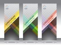 L'ensemble de support abstrait vertical de bannière d'affichage ou enroulent la conception Images stock