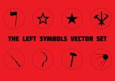 L'ensemble de symboles gauche Images libres de droits