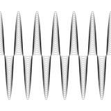 L'ensemble de vagues avec l'amplitude augmentée, le vecteur de la vague croissante d'amplitude est sans couture, les lignes sinue Photos libres de droits