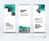 L'ensemble de vecteur d'affaires de moderne enroulent la conception de support de bannière avec a illustration stock