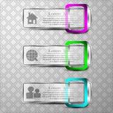 L'ensemble de vecteur d'ensemble de vecteur du bannersThe 3d de bannières 3d avec la place 3d Photographie stock