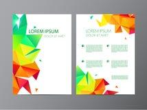 L'ensemble de vecteur de document, brochure de couverture de style de lettre ou de logo et maquette de conception de calibre d'en Photographie stock