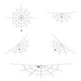 L'ensemble de vecteur de toiles d'araignée ou les toiles d'araignée pour Halloween conçoivent Élément de décoration D'isolement s Image stock