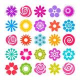 L'ensemble de vecteur fleurit des icônes dans le style plat illustration libre de droits