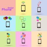 L'ensemble de vecteur téléphone des icônes illustration de vecteur