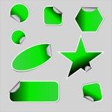 Autocollants verts Image libre de droits