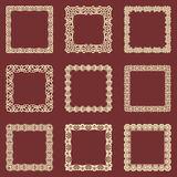 L'ensemble de vintage carré encadre le fond Dirigez les éléments de conception qui peuvent être coupés avec un laser Un ensemble  Image libre de droits