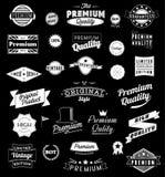 L'ensemble de vintage a dénommé des icônes et des bannières de conception illustration de vecteur