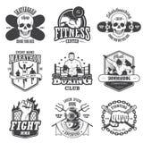 L'ensemble de vintage folâtre des emblèmes Photographie stock