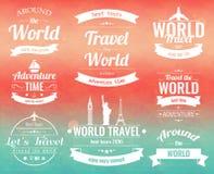 L'ensemble de voyage de vintage badges et des labels Icônes d'éléments de vacances Voyage et tourisme Vecteur Photos libres de droits