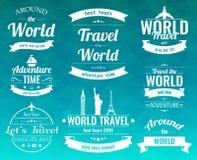 L'ensemble de voyage de vintage badges et des labels Icônes d'éléments de vacances Voyage et tourisme Vecteur Photo libre de droits