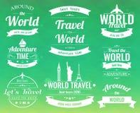 L'ensemble de voyage de vintage badges et des labels Icônes d'éléments de vacances Voyage et tourisme Vecteur Image stock