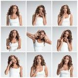 L'ensemble des images de femme de plaidoirie photo libre de droits