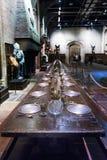 L'ensemble du grand hall comme Hogwarts, LEAVESDEN, R-U image stock
