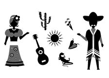 L'ensemble du Mexique Photo stock