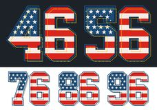 L'ensemble sportif numérote la texture américaine Image de vecteur Images stock