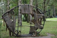 L'entaille de poissons de sculpture ropes l'objet image libre de droits