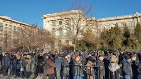 L'enterrement du Roi Michael de la Roumanie Images stock