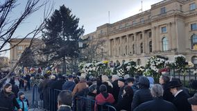 L'enterrement du Roi Michael de la Roumanie Photo libre de droits