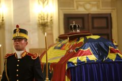 L'enterrement du Roi Michael I de la Roumanie Photos libres de droits