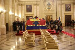 L'enterrement du Roi Michael I de la Roumanie Images libres de droits