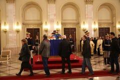 L'enterrement du Roi Michael I de la Roumanie Image libre de droits