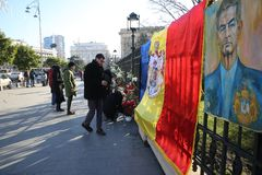 L'enterrement du Roi Michael I de la Roumanie Photo stock