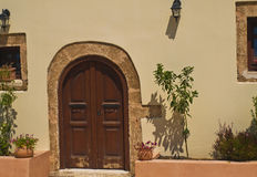 L'entrée à la Chambre grecque photographie stock