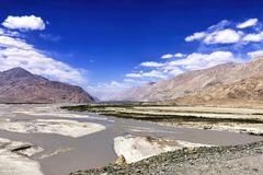 L'entrée à la vallée de Nubra, Inde Image libre de droits