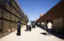 L'entrée au musée d'apartheid, Johannesburg image stock