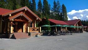 L'entrée au parc Ruskeala images stock