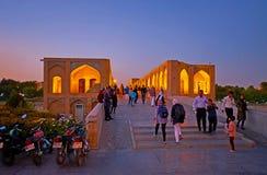 L'entrée au pont de Khaju, Isphahan, Iran Photo stock