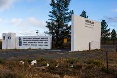 L'entrée au SEL, Sutherland image stock
