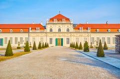 L'entrée centrale au belvédère inférieur, Vienne, Autriche image stock