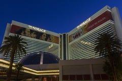 L'entrée d'hôtel de mirage à Las Vegas, nanovolt le 5 juin 2013 Photo libre de droits