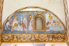 L'entrée dans Jesusalen et l'eucharistie photo stock