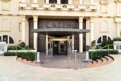 L'entrée de l'amiral Mendrisio de casino, est l'un des casinos les plus luxueux et les plus à la mode en Suisse Photos libres de droits