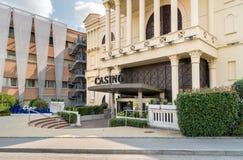 L'entrée de l'amiral Mendrisio de casino, est l'un des casinos les plus luxueux et les plus à la mode en Suisse Photographie stock libre de droits