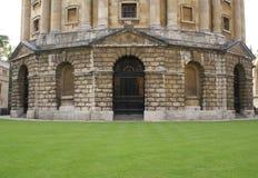L'entrée de l'appareil-photo de Radcliffe à Oxford, Angleterre Photos libres de droits