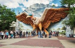 L'entrée des montagnes russes d'intérieur Vogel Rok dans l'amuser Photo libre de droits