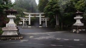 L'entrée principale au complexe Mitsumine de temple japan Chichibu Saitama banque de vidéos