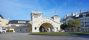 L'entrée principale de l'hôtel de la promenade de Disney Image libre de droits