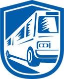 L'entraîneur de touristes Shuttle Bus Travelling jeûnent rétro Photo libre de droits