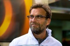 L'entraîneur Jurgen Klopp à la correspondance de demi-finale de ligue d'Europa entre le Villarreal CF photographie stock