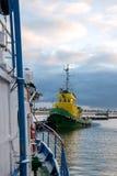 L'entrata al porto di pesca Fotografia Stock