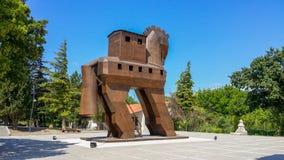 L'entrata alla città antica di Troia fotografie stock libere da diritti