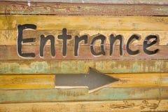 L'entrata canta. Fotografia Stock