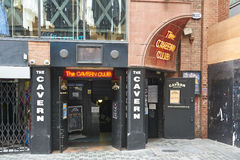 L'entrata del club della caverna Fotografia Stock Libera da Diritti