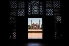 L'entrata del monumento di Sikandra o della tomba di Akbar a Agra, whe fotografie stock