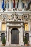L'entrata del municipio di Genova Immagini Stock